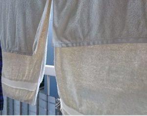 コインランドリー乾燥機のタオル